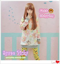 Load image into Gallery viewer, J-fashion Velveteen Sweater - Cute Animals SP130110 - SpreePicky  - 1