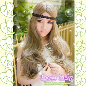 Retro linen long curly wig SP130120 - SpreePicky  - 1