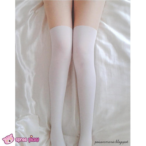 2 Colors Basic Fake Over Knee Thigh High Tights SP130053 - SpreePicky  - 2