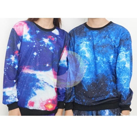 Harajuku universe galaxy star loose pullovers couple sweater SP130087 - SpreePicky  - 2
