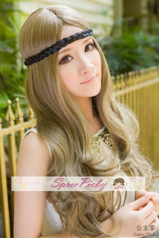Retro linen long curly wig SP130120 - SpreePicky  - 2