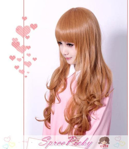 HARAJUKU Cos Wig Lolita Young Girl Gold Daily Wear SP130100 - SpreePicky  - 3
