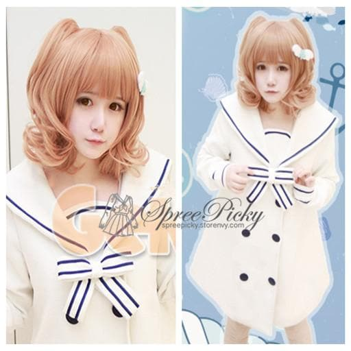 Pastel Cute Cat Ears Girly Curly Short Wig 2 colors SP130159 - SpreePicky  - 1