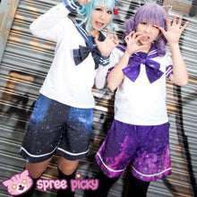 Load image into Gallery viewer, Blue/Purple Galaxy Stars Shorts Pants SP130151 - SpreePicky FreeShipping