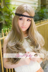 Retro linen long curly wig SP130120 - SpreePicky  - 3