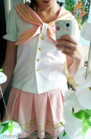 Sailor Seifuku set T-shirt+Vest Pleated Dress SP130122 - SpreePicky  - 3