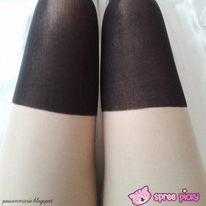 2 Colors Basic Fake Over Knee Thigh High Tights SP130053 - SpreePicky  - 4