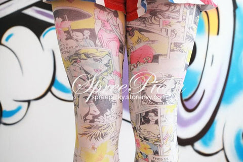 {3 For 2}Cartoon Manga Printing Tights SP130059 - SpreePicky  - 2