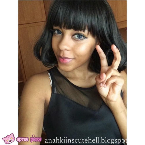 [Black/Brown] Daily Wear Bobo Short Wig SP130121 - SpreePicky  - 4