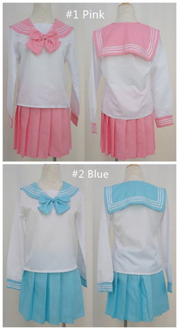Cosplay Long Sleeve Sailor Seifuku School Uniform Set SP141042 - SpreePicky  - 3