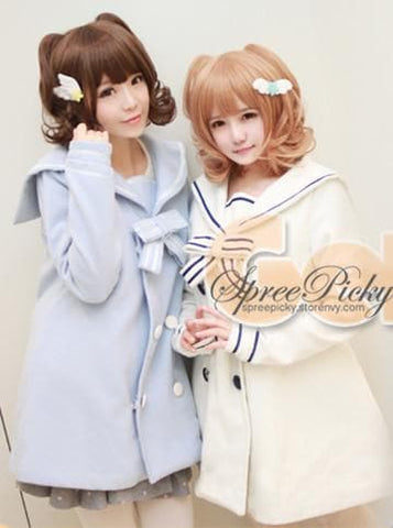 Pastel Cute Cat Ears Girly Curly Short Wig 2 colors SP130159 - SpreePicky  - 2
