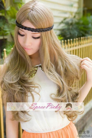Retro linen long curly wig SP130120 - SpreePicky  - 4