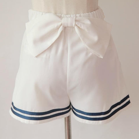 Sailor Style Lace Shorts With Bow On Back SP141151 - SpreePicky  - 4