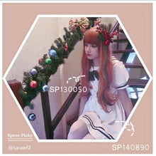 Load image into Gallery viewer, HARAJUKU wifing lolita cosplay women's maid equipment cos green and brow mix wig SP130050 - SpreePicky  - 1