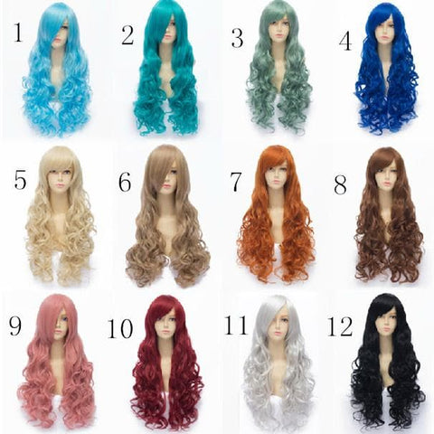 12 Colors  Lolita Cosplay Curl Wig 75cm SP152577