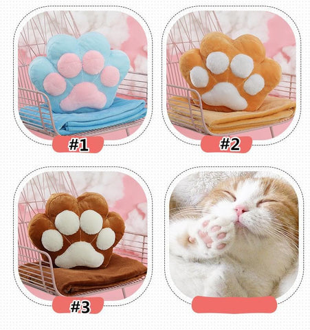 15 Colors Cute Cat Paw Two-Way Blanket Cushion SP1711211