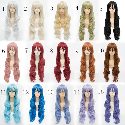 15 Colors Lolita Cosplay Curl Wig 80cm SP152579
