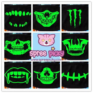 15 Patterns Glow Skull Noctilucous Dust Mask SP152119 - SpreePicky  - 2