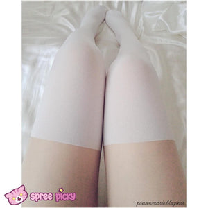 2 Colors Basic Fake Over Knee Thigh High Tights SP130053 - SpreePicky  - 5