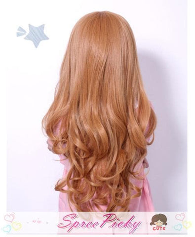 HARAJUKU Cos Wig Lolita Young Girl Gold Daily Wear SP130100 - SpreePicky  - 5