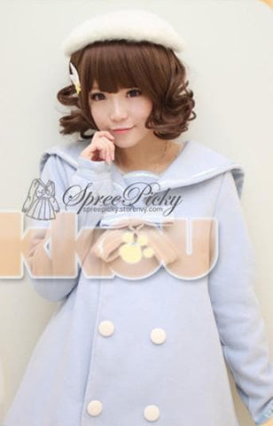 Pastel Cute Cat Ears Girly Curly Short Wig 2 colors SP130159 - SpreePicky  - 3
