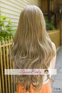 Retro linen long curly wig SP130120 - SpreePicky  - 5