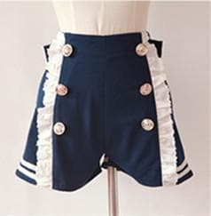 Sailor Style Lace Shorts With Bow On Back SP141151 - SpreePicky  - 5
