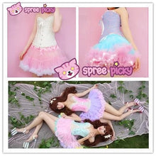 Load image into Gallery viewer, HIGH QUALITY Lolita Cosplay  Fluffy TUTU Dream Rainbow A shape Pettiskirt SP130218 - SpreePicky  - 1