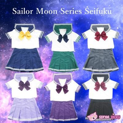 Sailor Moon Outer Senshis Sailor Seifuku Uniform Set SP151747