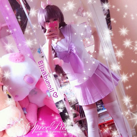 3 Colors J-fashion Cos Sailor School Uniform Seifuku Set  SP130056 - SpreePicky  - 2