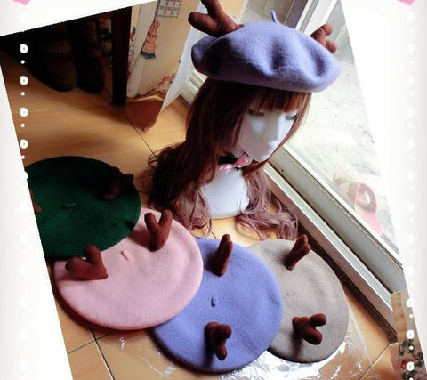 24 colors Antlers Beret Hat SP153408 - SpreePicky  - 5