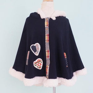 2 Colors Winter Kawaii Fluffy Fleece Cape With Kitten On Back SP141478 - SpreePicky  - 5