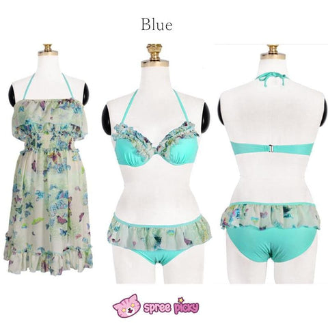 [M/L/XL] 3 Colors 3 Pieces Set  Bikini Swimsuit SP151899 - SpreePicky  - 4
