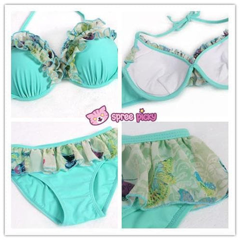 [M/L/XL] 3 Colors 3 Pieces Set  Bikini Swimsuit SP151899 - SpreePicky  - 6
