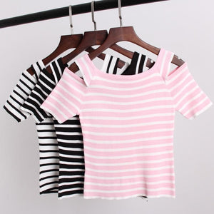 3 Colors Cute Japanese Girl Stripe Shirt SP152302 - SpreePicky  - 5