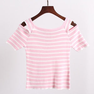 3 Colors Cute Japanese Girl Stripe Shirt SP152302 - SpreePicky  - 6