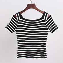 Load image into Gallery viewer, 3 Colors Cute Japanese Girl Stripe Shirt SP152302 - SpreePicky  - 7