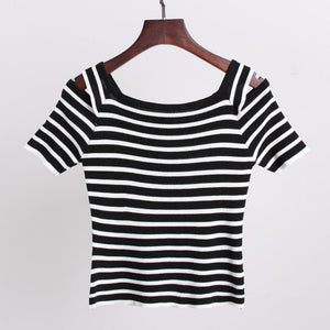 3 Colors Cute Japanese Girl Stripe Shirt SP152302 - SpreePicky  - 7