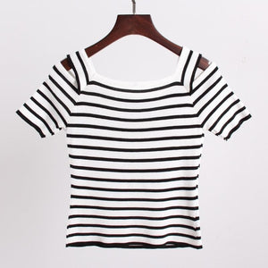 3 Colors Cute Japanese Girl Stripe Shirt SP152302 - SpreePicky  - 8
