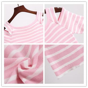 3 Colors Cute Japanese Girl Stripe Shirt SP152302 - SpreePicky  - 9