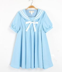 S-5XL 3 Colors Cutie Sailor Dress SP152287 - SpreePicky  - 2