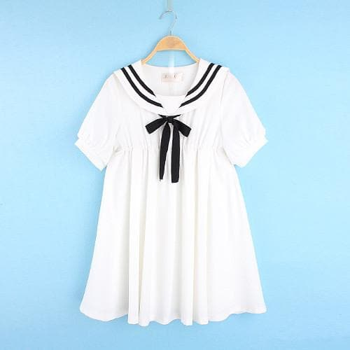S-5XL 3 Colors Cutie Sailor Dress SP152287 - SpreePicky  - 6