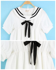 S-5XL 3 Colors Cutie Sailor Dress SP152287 - SpreePicky  - 7