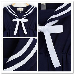 S-5XL 3 Colors Cutie Sailor Dress SP152287 - SpreePicky  - 9