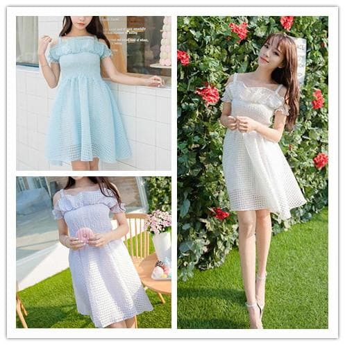 3 Colors Dolly Princess Strap Dress SP152269 - SpreePicky  - 1