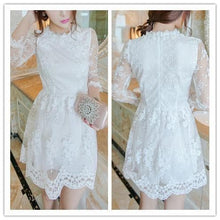 Load image into Gallery viewer, S/M/L 3 Colors Embroidery Lace Princess Dress SP152022 - SpreePicky  - 3
