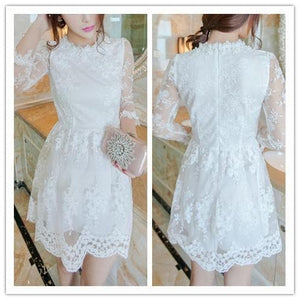 S/M/L 3 Colors Embroidery Lace Princess Dress SP152022 - SpreePicky  - 3