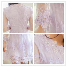 Load image into Gallery viewer, S/M/L 3 Colors Embroidery Lace Princess Dress SP152022 - SpreePicky  - 4