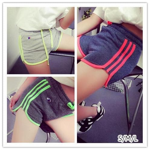 S/M/L 3 Colors Fluorescent Casual Work Out Shorts SP152699 - SpreePicky  - 1