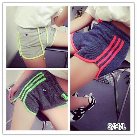 S/M/L 3 Colors Fluorescent Casual Work Out Shorts SP152699